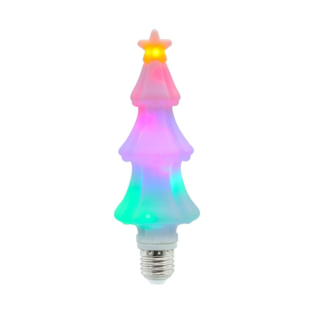 Flashing E27 Christmas Tree Shaped Light Bulb AC 220V 110V RGB LED Lamp For Home Decoration Holiday Lighting