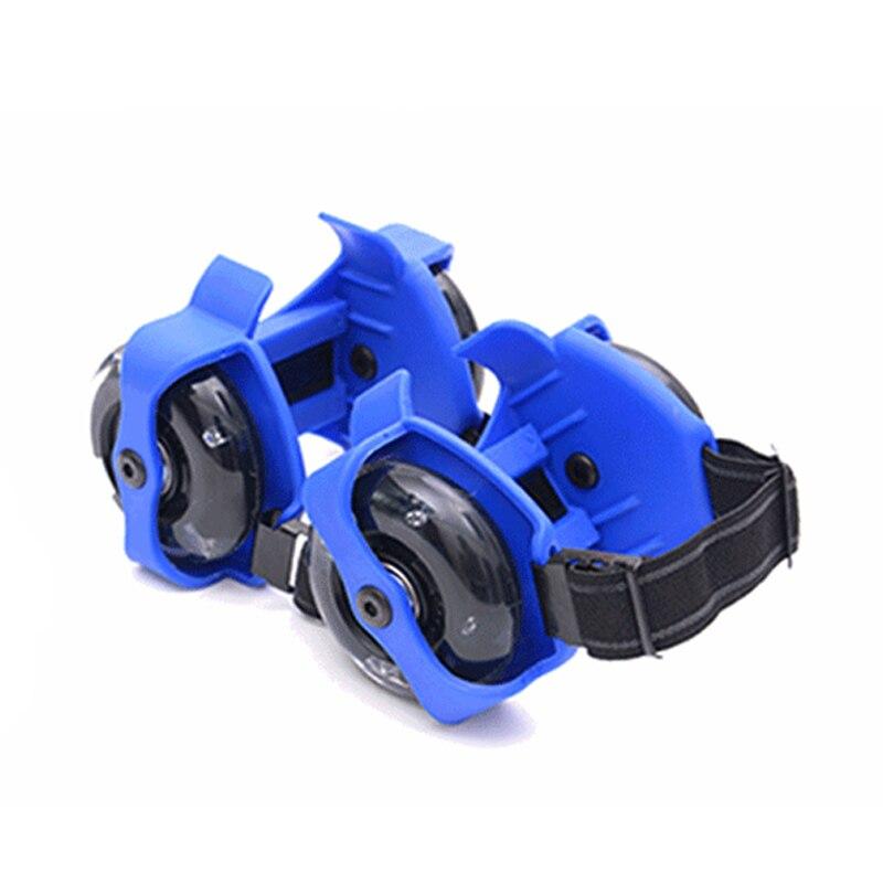 1 Pair Flashing Roller Skating Shoes Whirlwind Pulley Flash Wheel Heel Roller BHD2