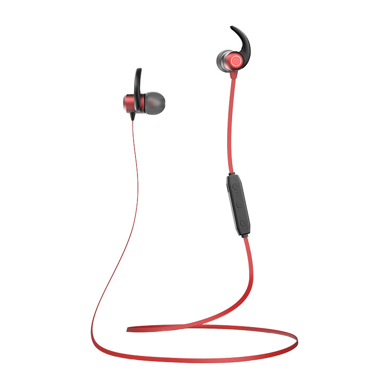 Wireless Sports Bluetooth Headset Running In-ear Earplug Neck Halter for Apple Android Magnetic Sucker Noise Reduction