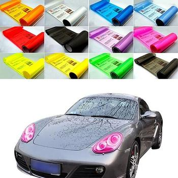 HOT New Auto Car Fog Light Headlight Taillight Tint Vinyl Film Sheet Sticker Decal Car Light Sticker Suitable for any headlights image
