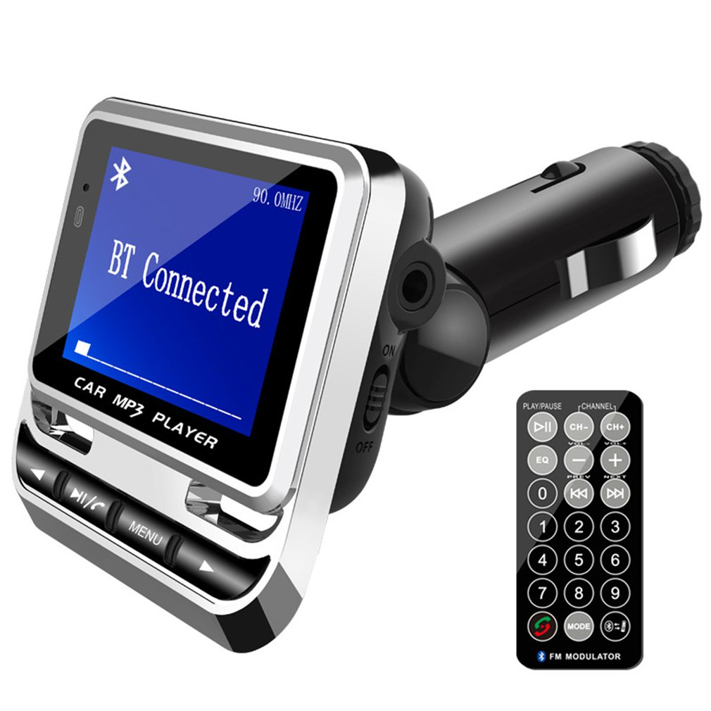Car portable MP3 hands-free player car FM transmitter Chinese and English lyrics synchronous display player