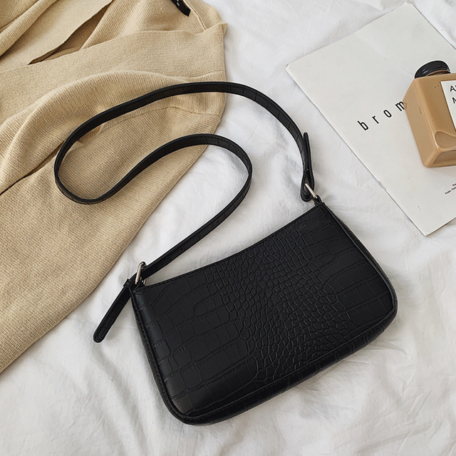 Bolsas mensageiro retro jacaré padrão feminino bolsas de ombro aleta novo couro do plutônio casual sólida crossbody sacos para mulheres bolsas 6