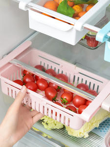Storage-Rack Refrigerator-Storage-Box Compartment Fresh Drawer-Basket Adjustable