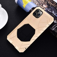 IMATCH Case Luxury Metal Silicone Cover Mobile Phone Coque For iphone 11 11pro 11proMax  Aluminum KS0375