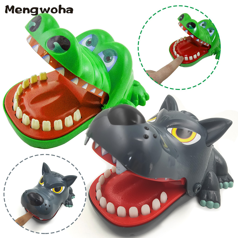 Big Funny Crocodile Biting Finger Gags Wolf Parent-child Interactive Toys Family Joke Desktop Party Games For Children Gift