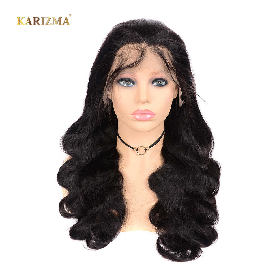 Body Wave Remy Brazilian Hair Full Lace Human Hair Wigs For Black Women 150% Density 8inch-26inch Full Lace Wig With Baby Hair