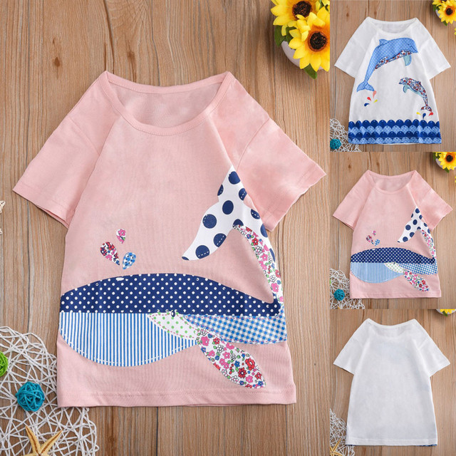 TELOTUNY 2020 Toddler Kids Baby Boys Girls Clothes Short Sleeve Cartoon Tops T-Shirt Blouse hildren Tshirt Baby Clothes 2-8T