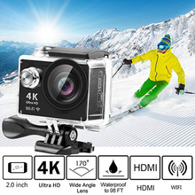 4K WiFi Camera Ultra HD Waterproof 170 Degree Wide Angle Camcorder for outdoor L