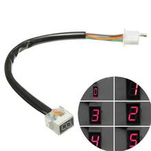 Universal Motorcycle Led Digital Gear Indicator Display Scooter 0-5 Niveau Shift Lever Sensor Speed Gear Display Indicator(China)