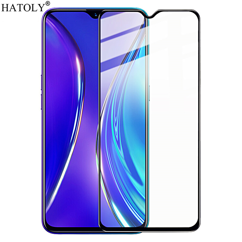 For OPPO Realme X2 Glass Tempered Glass for Realme X2 Film Full Glued Hard Phone Screen Protector Protective Glass for Realme X2