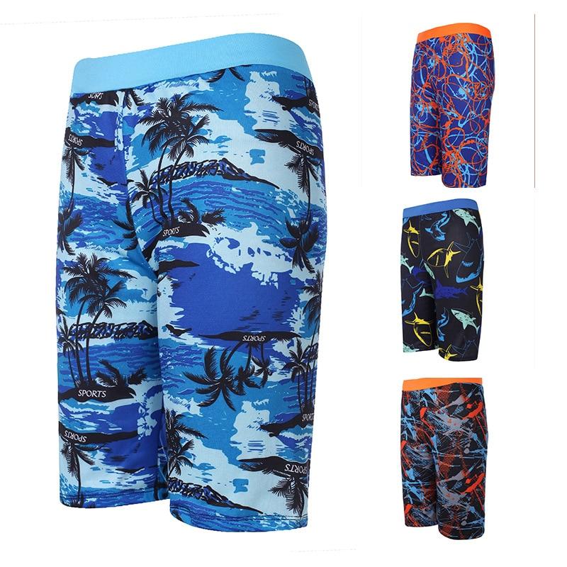 [Swimming Pool] New Fashion Men's Short Swimming Trunks Men's Casual Swimming Trunks New Style Boxer Printed