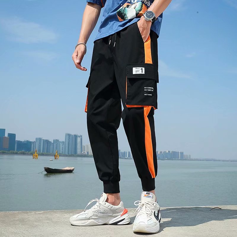 New Men's Pants Sweatpants Cargo Pants Streetwear Casual Side-pockets Pants Men Joggers Pants Cotton Man Trousers