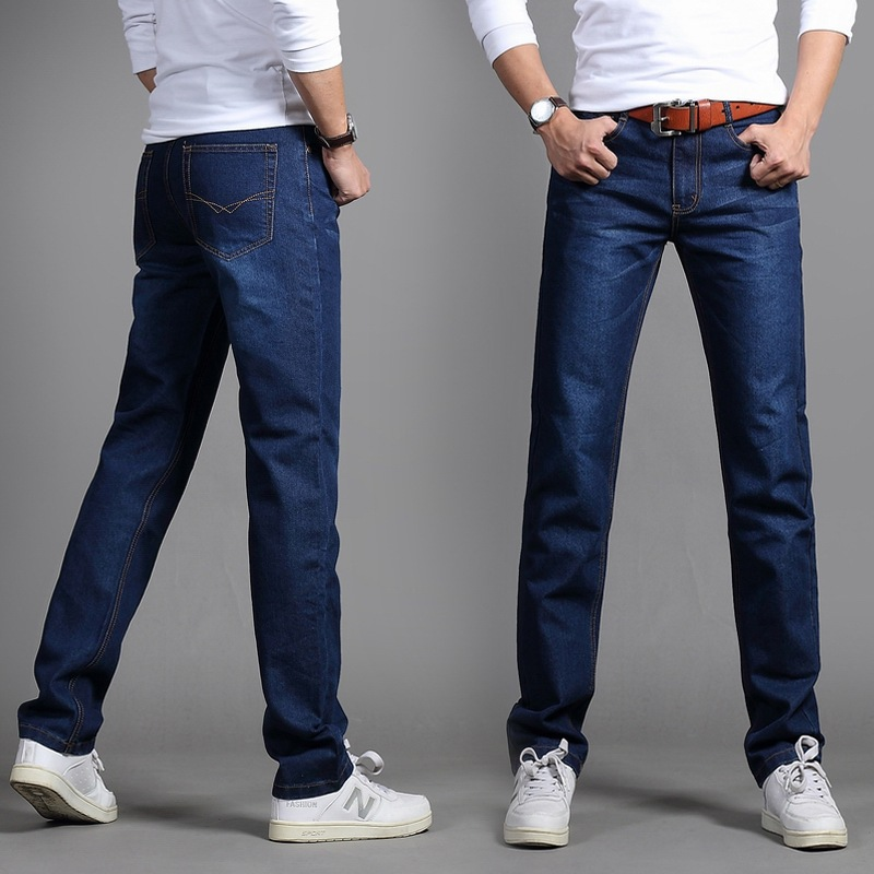 2019 Spring New Style Elasticity MEN'S Jeans Large Size Jeans Men's Straight-Cut Long Pants Men'S Wear