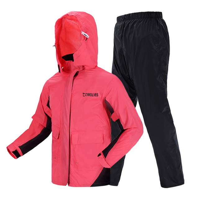 Pink Raincoat Women Jacket Rain Pants Suit Thin Outdoor Sports Adult Hiking Korean Rain Coat Clothes Capa De Chuva Gift Ideas