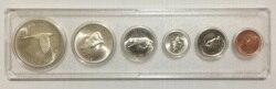100th Anniversary Kanada 1967 Enthält 4 Silber Münzen 1 Cent zu 1 Dollar Vollen Satz 6 Stück Unc Echt Original münzen Sammlung