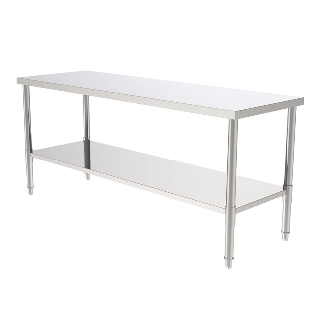 """72"""" Stainless Steel Galvanized Work Table 1"""