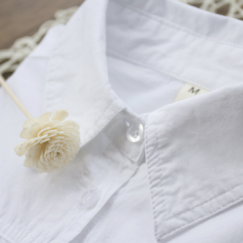 RICORIT Women Long Blouse Women White Shirt Office Ladies 100% Cotton Shirts Casual Cotton Blouse Fashion Blusas Femininas 6