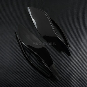 Image 2 - Deflettore aria parabrezza ala laterale regolabile fumo nero per Harley Electra Glide Tri Glide Street Glide 2014 2020