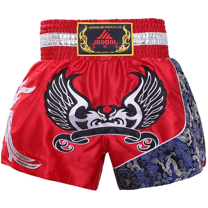 JDUanL Muay Thai Shorts Men And Women Sanda Boxing MMA Shorts Comprehensive Fighting Boxing Training Suit Clothes For Sanda