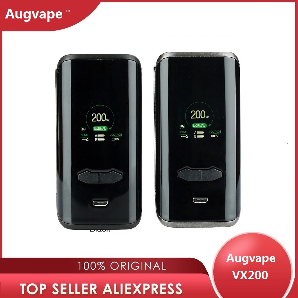 Original Electronic Cigarettes Augvape VX200 Box Mod Power By Dual 18650 Battery Vape Vaporizer Vs Drag 2 / Luxe Nano / Luxe Mod