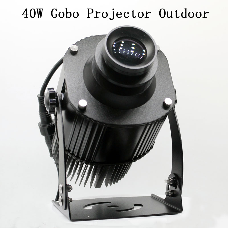 40W Waterproof Rotating LED GOBO Projector 220v Advertising Logo Light For Outdoor Use With 1 Color Gobo