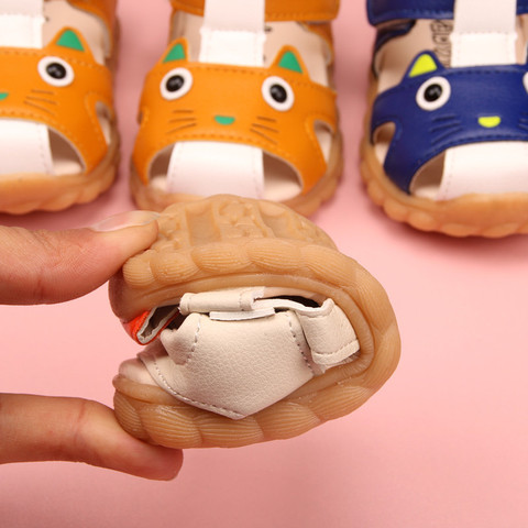 verao sandalias do bebe sapatos adoravel gato