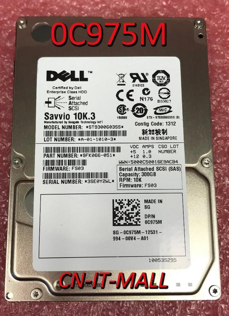 Вытяжной 0C975M 0T871K ST9300603SS 300 ГБ 10000 об/мин 16 Мб кэш SAS 6 ГБ/сек. 2,5