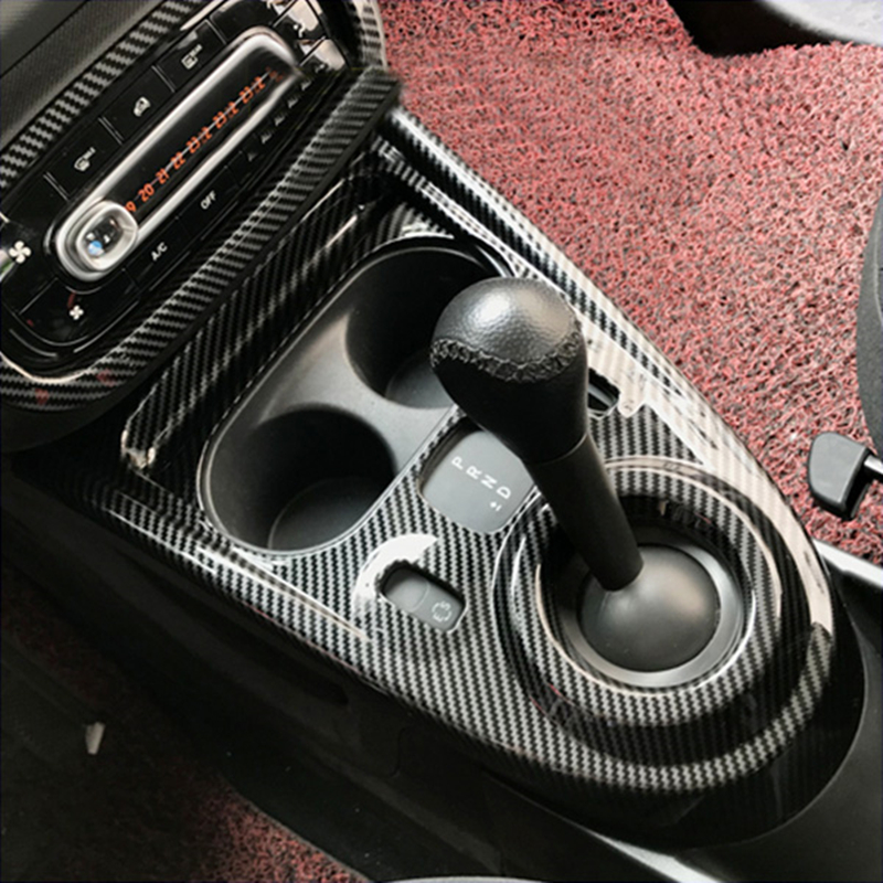 For Smart 453 Fortwo Forfour Gear Shift Panel Decorative Cover Interior Sticker Car Modification Accessories Styling