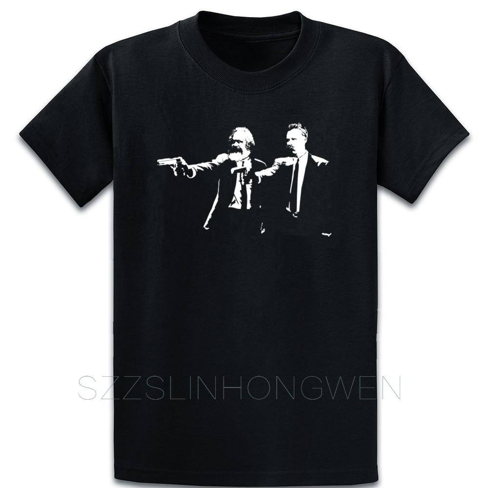 Marx And Nietzsche Fun Philosophys Pulp Fiction T Shirt Cute Spring Custom Cotton Novelty S-5XL Novelty Breathable Shirt