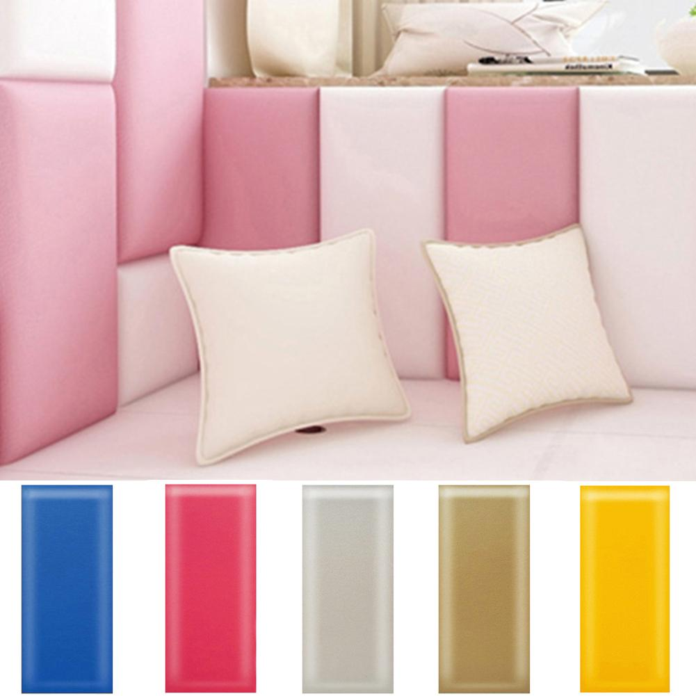 1PC 20cm X 50cm Baby Wall Mat Solid Color Baby Anti-collision Wall Mat Foam Waterproof Self-adhesive Cushion Impact Protection