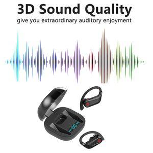 Image 5 - Caletop sport bezprzewodowe słuchawki zaczep na ucho słuchawki douszne IPX5 wodoodporne słuchawki douszne z mikrofonami dla iphonea dla Xiaomi