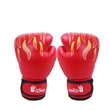 Красные Пламенные со стразами хуту боксёрские перчатки для взрослых