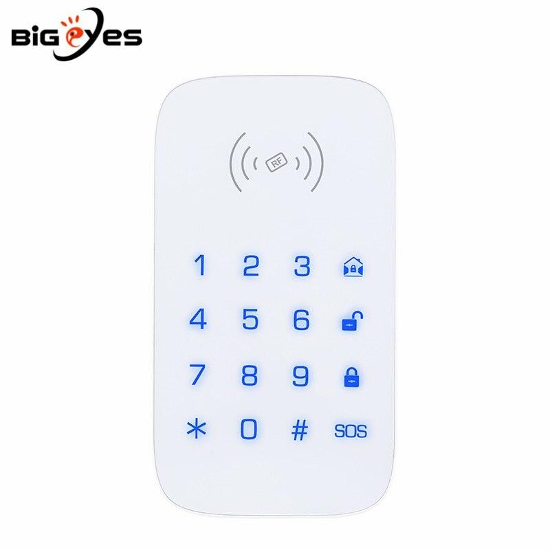 PGST 433MHz Wireless Touch Keypad Support RFID Tags Wireless Password Keybord for Security Intruder Alarm System Burglar Alarm