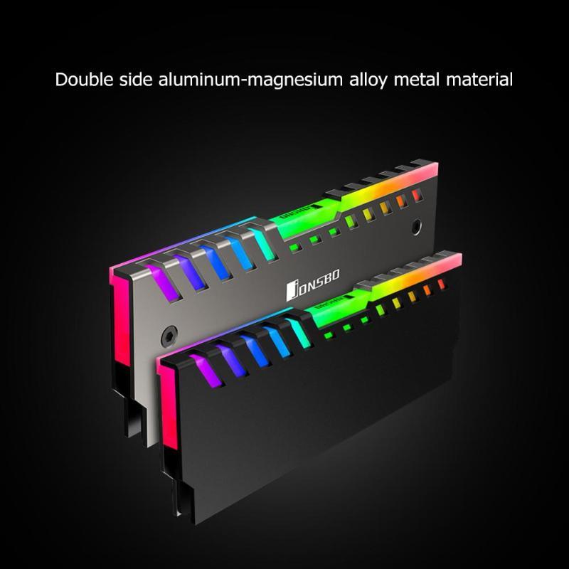 2 шт. Jonsbo NC-2 RGB Настольный ram память охлаждающий жилет 256 цвет авто изменение алюминиевый охладитель жилеты