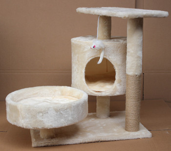Sisal Scratching Post House Cushion Perch Cat Scratching Post Scratcher Tree Cat Tree Plush Activity Center cat tree with sisal scratching post 95 cm