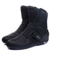 ARCX Men's Motorcycle Boots Genuine Cow Leather Waterproof Street Moto Racing Boots Motorcross Boots Motorbike Boots L60612