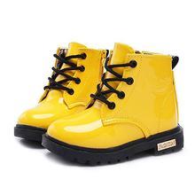 Новые кожаные ботинки для девочек; Обувь мальчиков; Сезон весна