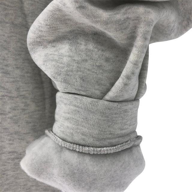 Fashion women's cotton Stand collar half zipper letter printing long sleeve sweatshirts Vintage Grey casual loose sweatshirt 6