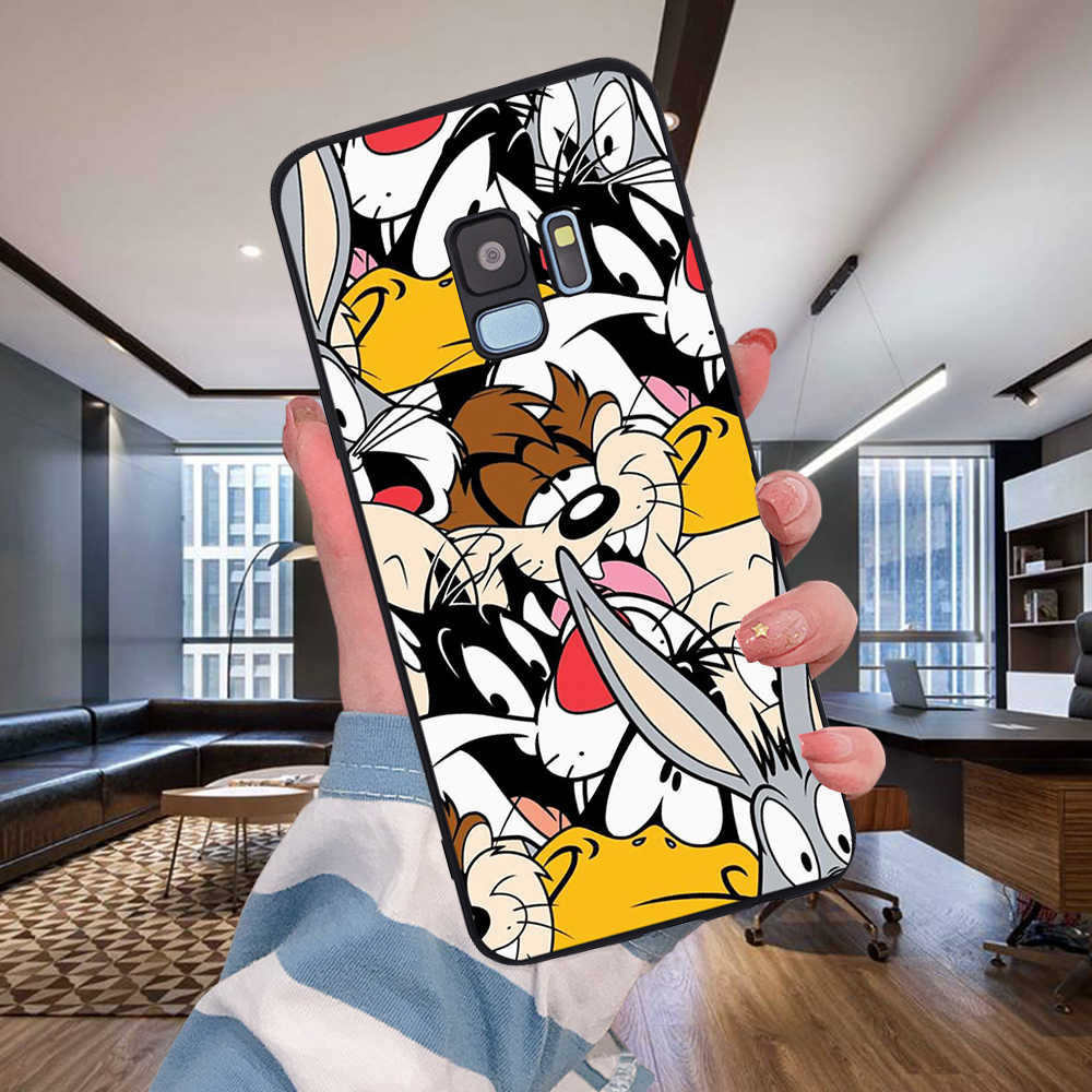 Silikon karikatür tavşan Samsung Galaxy S6 S7 kenar S8 S9 S10 artı Lite not 8 9 10 A30 A40 a50 A60 A70 M10 M20 telefon kılıfı