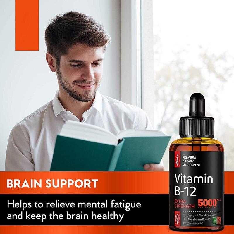 60ML Vitamin B12 Drop Supplement Vegan Essential Supplements Nutro Vegan 5