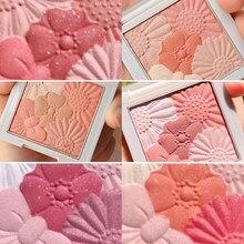 6 cores mel pêssego rosa blush bochecha maquiagem iluminar a pele matte toque de seda fácil de usar pigmentado duradouro rosto cosméticos tslm1