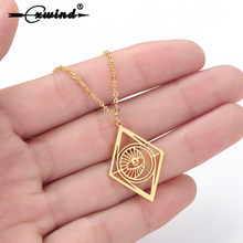 Cxwind New Evil Turkish Eye Necklaces for Women Lucky Geometric Necklace Chain Necklace Minimalist Choker Jewelry collier(China)