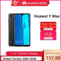 "Globale Versione Huawei Y MAX 4GB 128GB Smartphone 16MP Dual AI Posteriore Telecamere 7.12 ""FullView Display del cellulare 5000mAh Batteria"