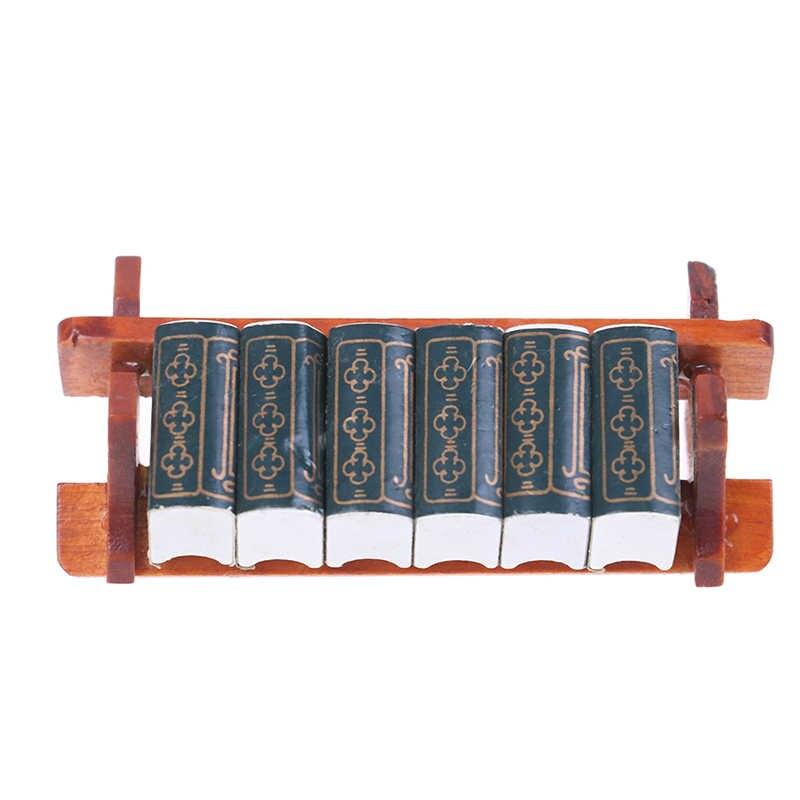 책장 노트북 책 신문 배낭 Caculator 클램프 모델 인형 집 아이 장난감 인형 집 미니어처 학습 액세서리