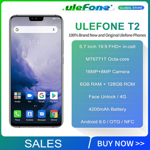 Image 2 - Ulefone T2 6.7 FHD + Helio P70 6GB 128GB Smartphone çift 4G parmak izi yüz kimlik NFC android 9.0 cep telefonu 4200mAh