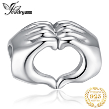 JewelryPalace Hand To Hand 925 Sterling Silver Beads Charms Silver 925 Original For Bracelet Silver 925 original Jewelry Making