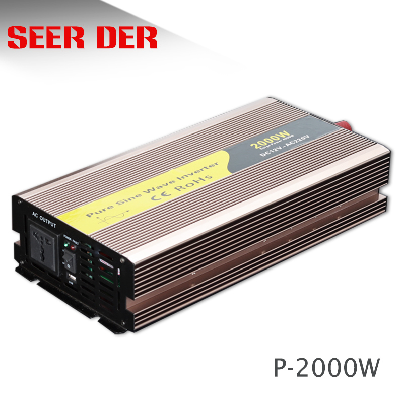 inverter 2000 watt 24 volt pure sine inverter 220 volt 2kw grid tie dc to ac <font><b>motor</b></font> inverter image