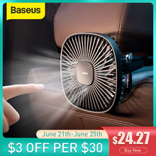 Baseus Magnetic Car Air Cooling Fan 360 Rotation Back Seat Cooler Fan With 1000mAh Battery For Auto Air Conditioner Cooler Fan