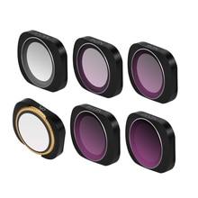 Para dji bolso/2 filtro ajustável uv + cpl nd4 8 16 32 filtros para osmo bolso densidade neutra filtros cardan acessórios conjunto