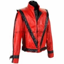 MJ Michael Jackson Thriller Style Jacket in Red PU Leather